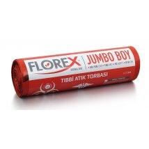Tıbbi Atık Baskılı Jumbo Boy Çöp Torbası 10 Adet