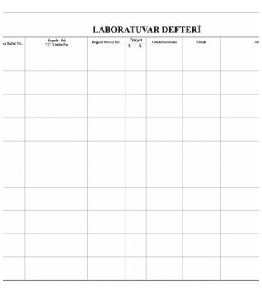 LABORATUVAR DEFTERİ 200 SAYFA