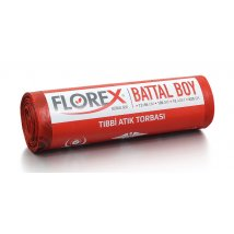 Tıbbi Atık Baskılı Battal Boy Çöp Torbası 10 Adet