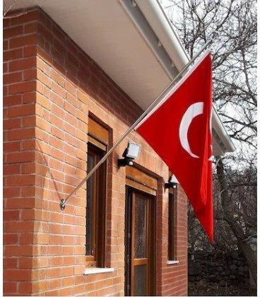 Teleskopik Bayrak Direği Bina Cephesi Bayrak Direği Duvar Tipi Bayrak Direği