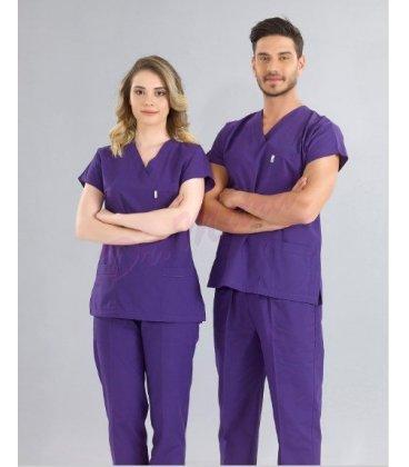 Greys (Yarasa Kol) Modeli Cerrahi Takım ( Terikoton Ince Kumaş)