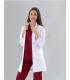 Bayan Doktor HAKİM Yaka Vizit Önlük Uzun Kol (Alpaka Kumaş)